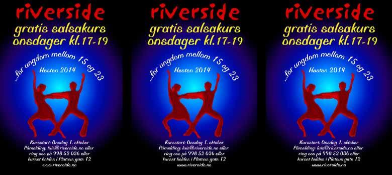 Gratis salsakurs på Riverside ungdomshus