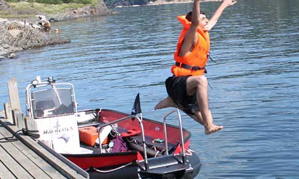 Overnattingstur til Husbergøya 18-19. juli